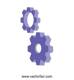 gears settings isolated icon