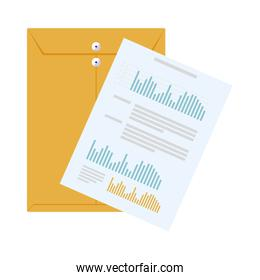 manila envelope with financial documents