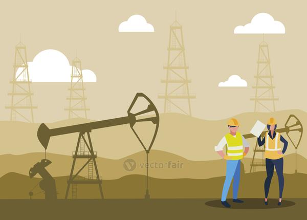 oil industry workers avatars characters