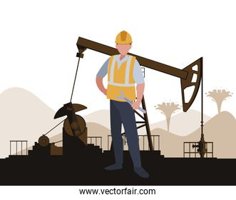 oil industry worker avatar character