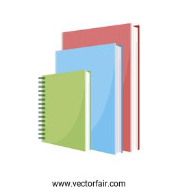 school notebook green  with text books