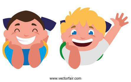 happy little boys characters