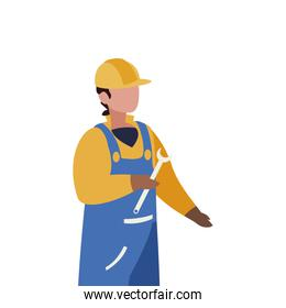 builder construction worker with wrench character