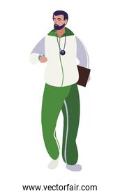sports teacher avatar character