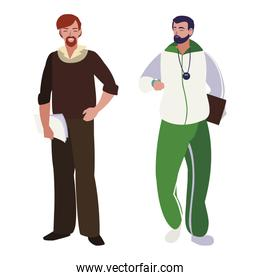 teachers classic and sports avatars characters