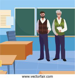 teachers couple in the classroom characters
