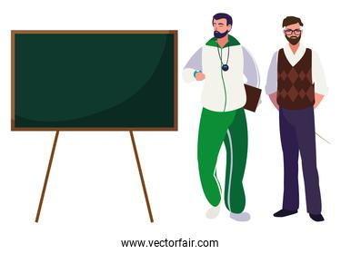 teachers classic and sports with chalkboard