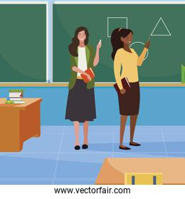 interracial female teachers in the classroom characters