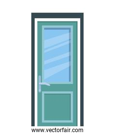 hospital door isolated icon vector ilustration