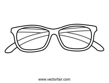 eyeglasses accessory isolated icon vector ilustration
