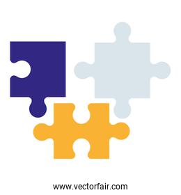 puzzle game pieces solution icons vector illustratio