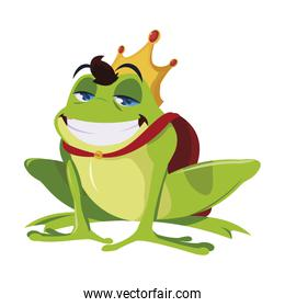 toad prince fairytale character vector ilustration