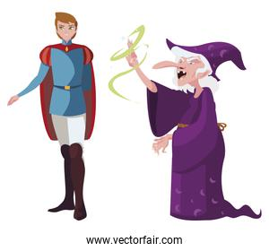 prince charming and witch of tales character