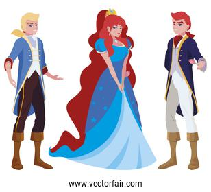 isoalted charming princes and princess of tales characters