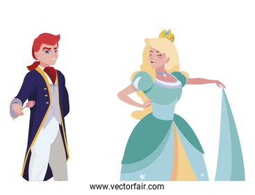 prince charming and princess of tales characters