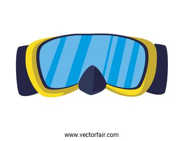 diving snorkel mask summer icon