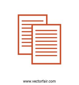 paper documents files isolated icon