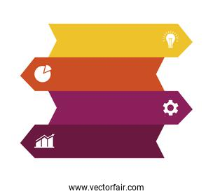arrows labels infographics business icons