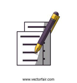 document pages and pen icon