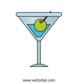blue icon of cocktail