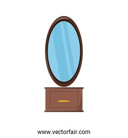 dressing table with mirror icon