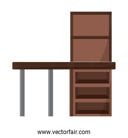 desk with shelves icon