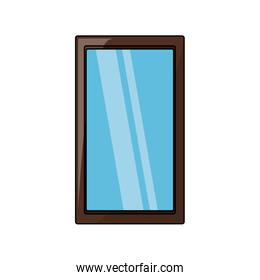 rectangle mirror icon