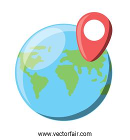 world map sphere icon