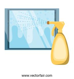 cleaning spray bottle icon