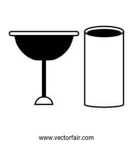 wine glass and glass icon