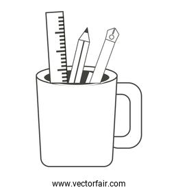 Pencil cup holder icon