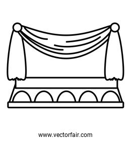 theater curtains linear style design