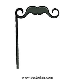 Mustache Party prop icon over white background