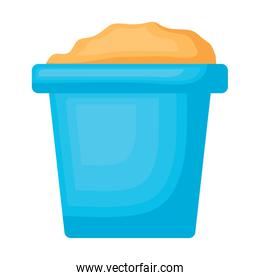 bucket with sand icon