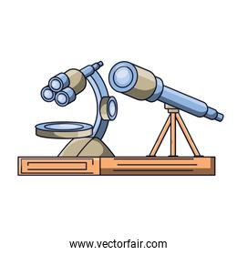 microscope and telescope icon
