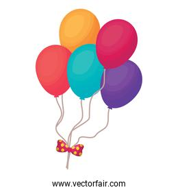 colorful balloons icon