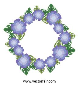 floral wreath icon