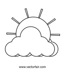 cloud and sun icon