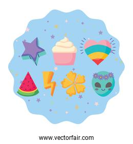 cupcakes and watermelon pattern