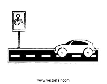 Disable Parking Zone Sign design