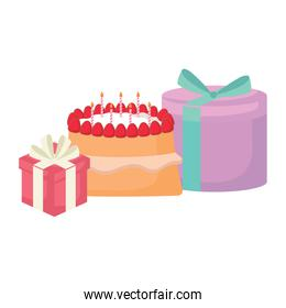 Gift boxes and cake design