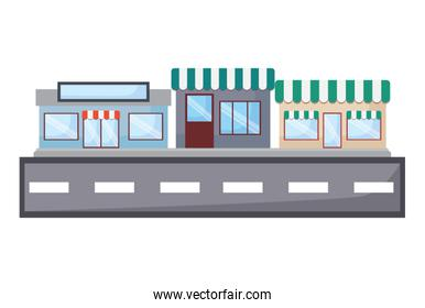 street with stores
