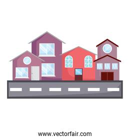 modern houses and street