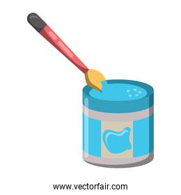paint jar and brush icon
