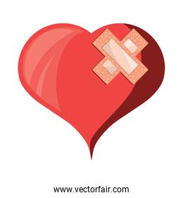heart with band aids