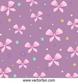 stars and bows pattern