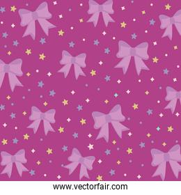 bows and stars pattern purple background