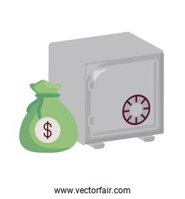 safebox and money design