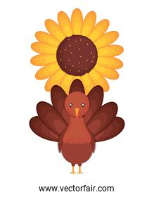turkey and sunflower design
