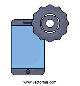 cellphone and gear icon